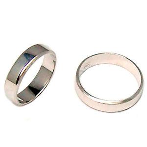 5a03479c3464 Bandas de boda boda de oro blanco 18 kt. anillo novia plana para 25 ...