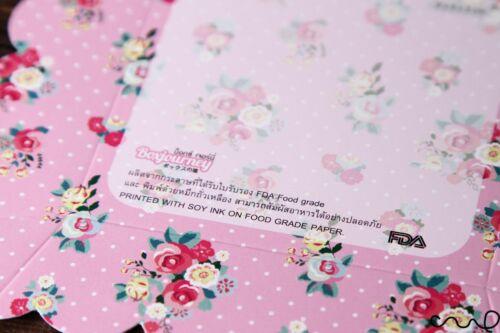 10 X Motif Fleuri Rose Papier Fête Plateau de qualité alimentaire Shabby Chic Food Snack desservant 993