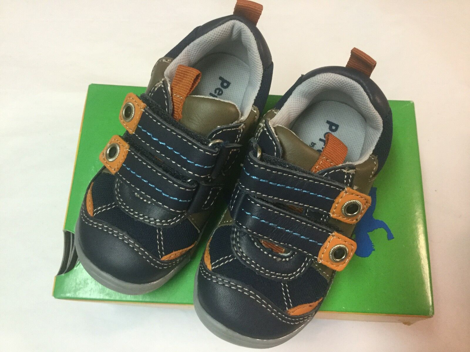Playground Navy Leather Tennis Shoes