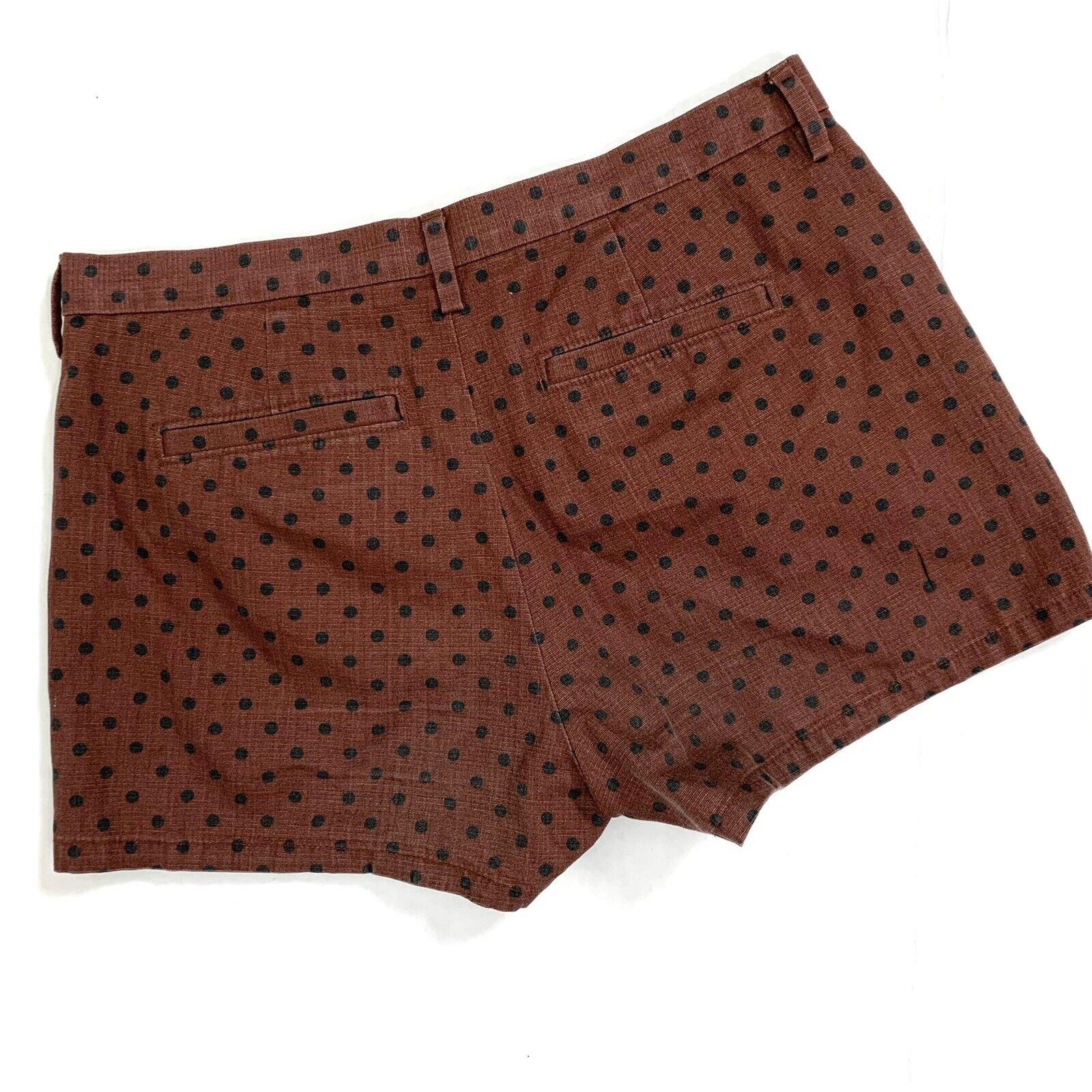Madewell 01591 Brown Polka Dot Tailored Shorts 2 - image 3