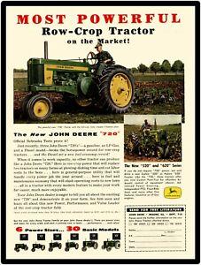 John Deere Model 720 Tractor Featured John Deere Farm Equipment New Metal Sign
