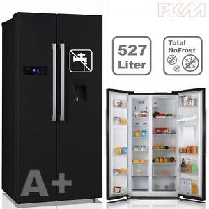 Side by Side Kühlschrank Kühl-/Gefrierkombination No Frost ... | {Amerikanische kühlschränke schwarz 92}