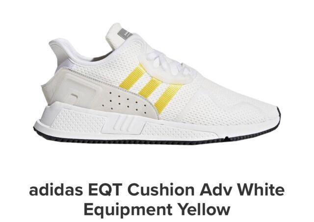 Adidas Originals EQT Cushion ADV Yellow White CQ2375 NEW