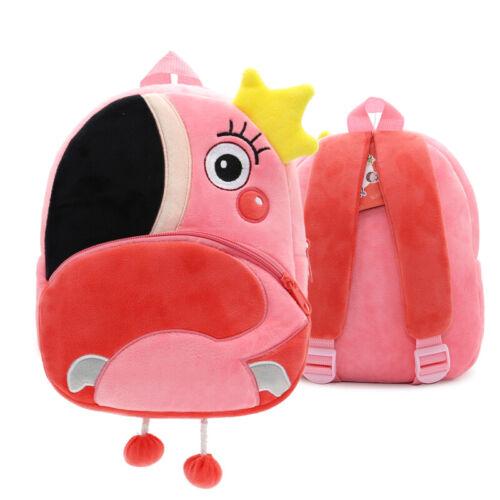 Flamingo Toddler Kid Bambini Boy Ragazza Animale Zaino Scuola Borsa Zaino