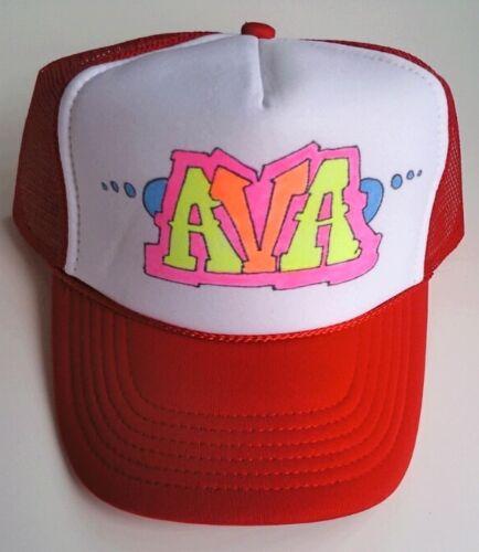 Emily Your Name Gift Trucker Hats Caps Personalized Custom Graffiti Airbrush Art