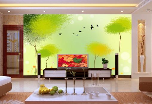 3D Lovely Grün Tree 7 Wall Paper Murals Wall Print Wall Wallpaper Mural AU Kyra