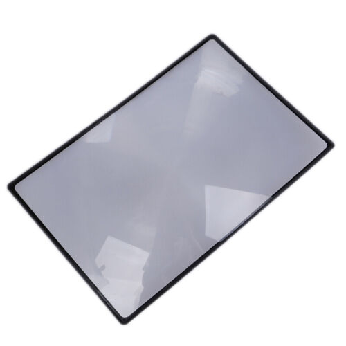 A5 Flat PVC Magnifier Sheet X3 Book Page Magnifying Reading Glass Lens ZB TD