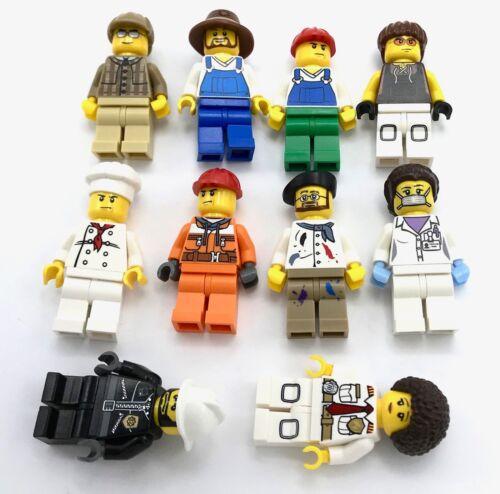LEGO Bausteine & Bauzubehör Baukästen & Konstruktion Lego 10 New Stadt Minifiguren Arbeitnehmer Stecker & Buchse Figuren