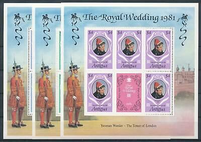 206639 Antigua Klbg.628-30** Hochzeit Lady Diana üBerlegene Leistung Karibik