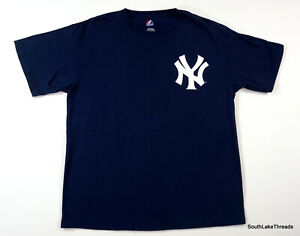 MAJESTIC-MLB-NEW-YORK-YANKEES-Robinson-Cano-24-JERSEY-T-SHIRT-Men-039-s-Large