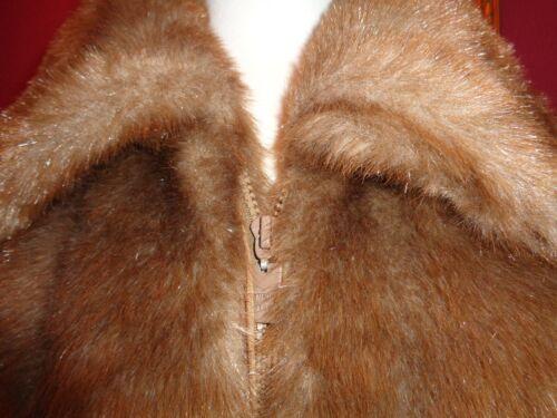 magnifique parfait similicuir en En état Manteau à glissière faux Basso brun Dennis M BRPI11