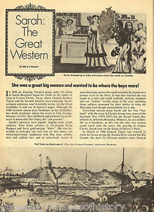 Pioneer western woman of the u s army sarah a bowman ebay for Pioneer woman magazine second issue