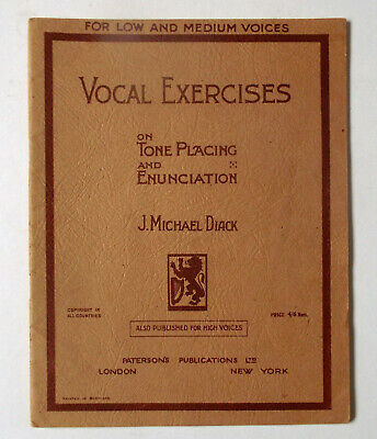 Michael Diack J Low And Mediu Vocal Exercises On Tone Placing And Enunciation