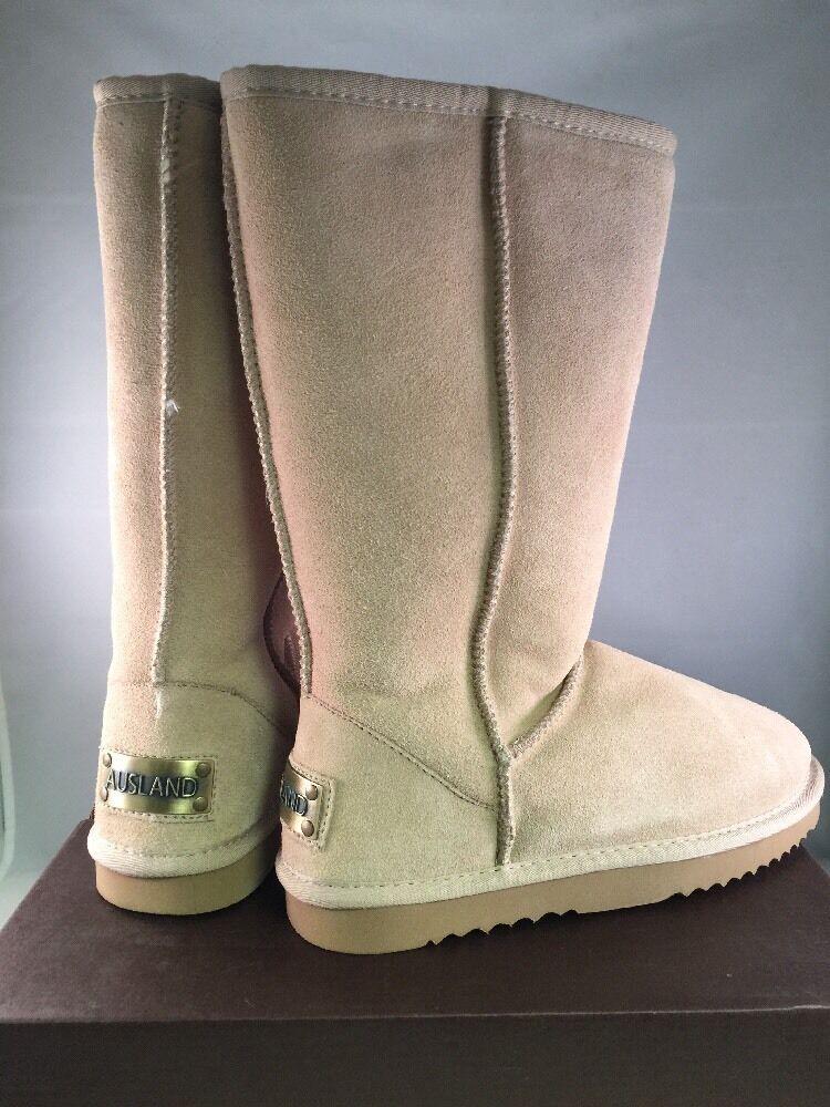 New  Ausland Damenschuhe Classic Leder Tall Stiefel Sandy  A 5815 Größe 6.5 Beige