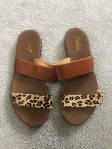 Joules Brown Leopard Print Leather