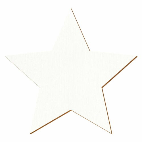 Blancos Madera Estrella Lecho Artesanal Decoración Decoración de Mesa 3-50cm