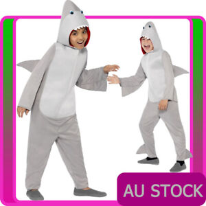 Boys-Shark-Costume-Animal-Mascot-Fancy-Dress-Party-Book-Week-Kids-Child-Bodysuit