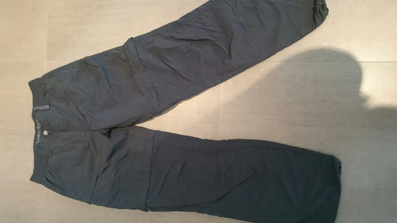 vaude zippwanderhose schwarz kurzgrösse 18, 36