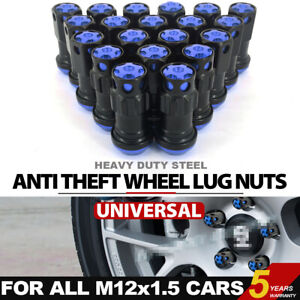 20PCS M12X1.5mm /& 1.25mm Lug Nuts Spiked Extended Tuner Aluminum Wheels Rims Cap