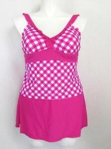 90f3a722f7 Catalina Women's Size 2X Pretty in Pink Tankini Top w/ Skirt Panty ...
