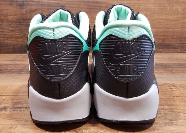 d09f89890d27 Womens Nike ID Air Max 90 Hyperfuse Black HYPER Turquoise Shoe 653606 992 Sz  6.5 for sale online