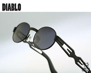 Diablo-D30-028-Vintage-90s-steampunk-black-oval-sunglasses-men-amp-women-NOS