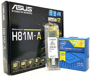 New ASUS H81M-A microATX, Pentium G3260 CPU, 8GB DDR3 ...