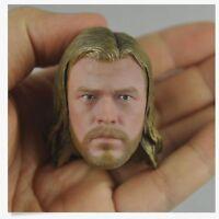 "1/6 scale Hot Custom Head Sculpt The Avengers Thor Chris Hemsworth fit 12"" Toys"