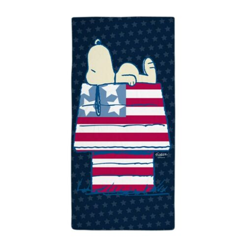 1303281905 CafePress Snoopy 4Th Of July Beach Towel
