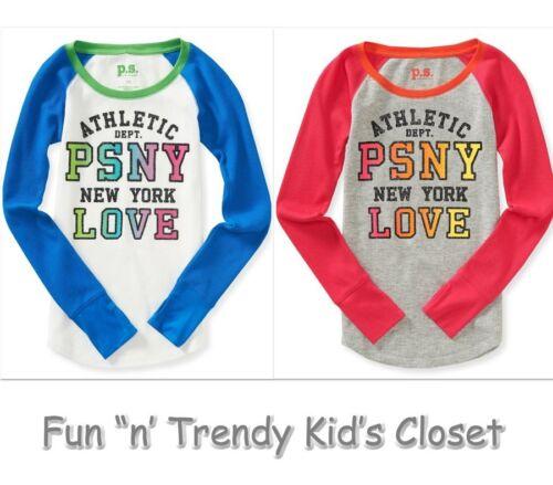 NWT PS Aeropostale Girls Size 8 10 Kids' Long Sleeve PSNY Thermal Tee Shirt Top