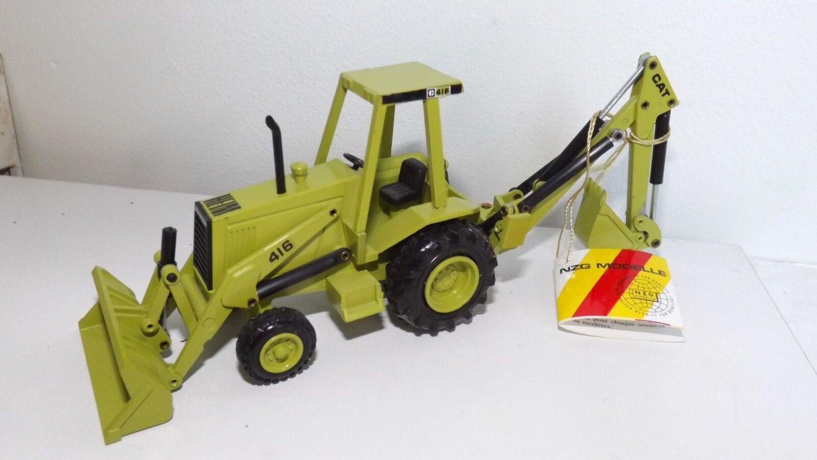 Rare NZG no 285 CAT 416 Heim Backhoe Loader digger, excavator. Conrad Gescha