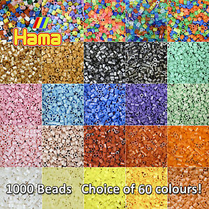 Hama-Beads-1000-Per-Bag-Choice-of-60-Colours