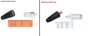 DINSE STYLE WELDING CABLE SOCKET OR PLUG PLEASE SELECT SIZE PUSH AND TWIST