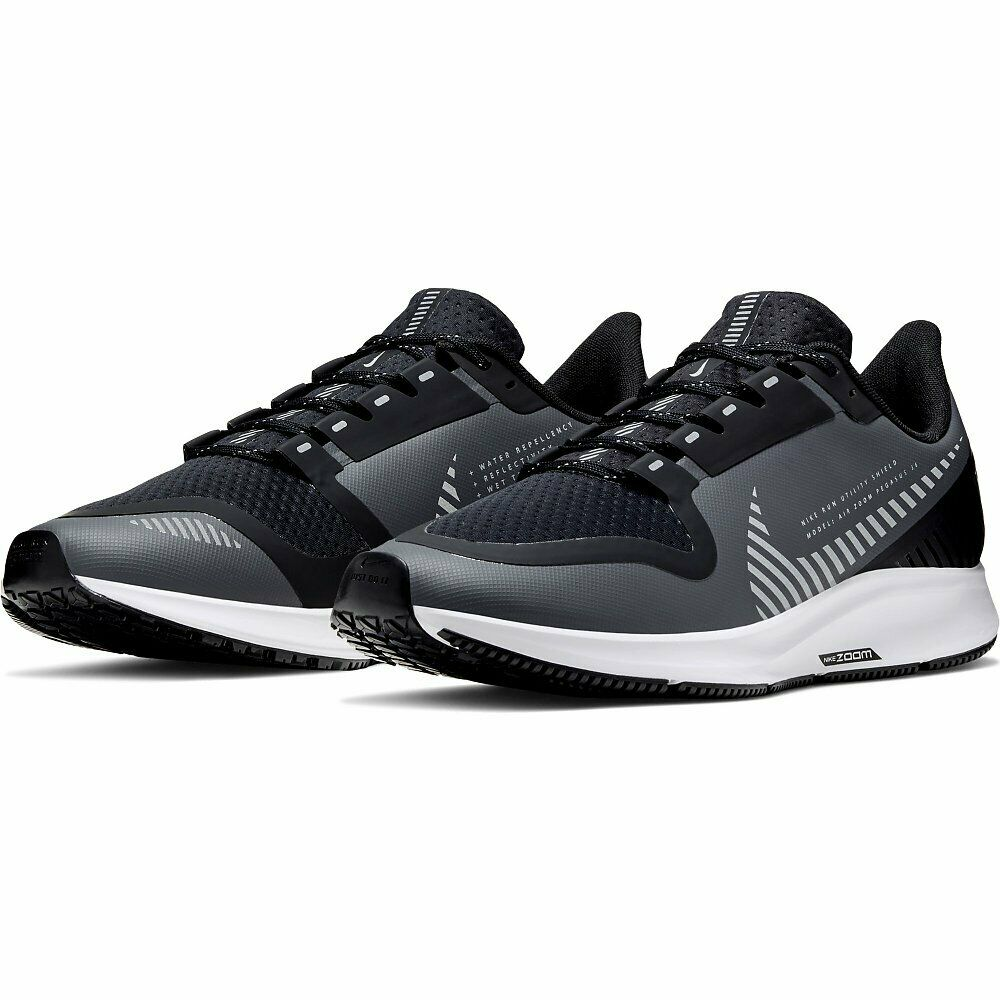 Nike Air Zoom Pegasus 36 Shield Sportschuhe Laufschuhe Grau Schwarz AQ8005-003