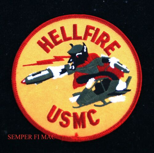 HELLFIRE USMC PATCH MISSILE ROCKET HELICOPTER WEAPON PATCH CAT USMC WOW!!