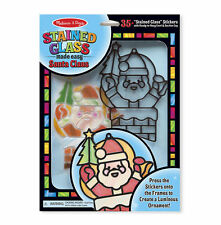 Melissa & Doug Stained Glass Made Easy - Santa Claus  #8584 NEW