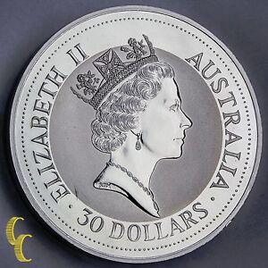 1992 1 Kilo Silver Australian Kookaburra 999 Silver Coin