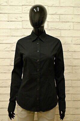 Camicia Daniele Alessandrini Donna Taglia 46 Maglia Blusa Camicia Shirt Nero Alleviare Reumatismi E Freddo