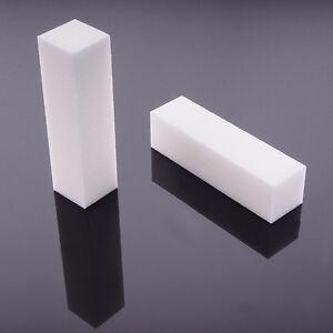 Feilblock-Schleifblock-Nagelbuffer-Polierblock-Feilschwamm-Polierfeile-Weiss-Rosa