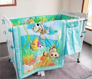 8 Piece Baby Bedding Set Underwater