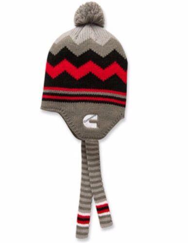 cummins dodge truck beanie stocking hat ski cap toboggan black earflap pom pom