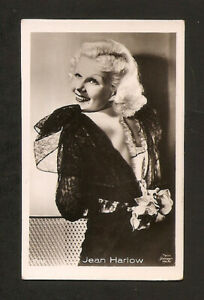 JEAN-HARLOW-CARD-VINTAGE-1930s-COLLECTION-ROSS-REAL-PHOTO
