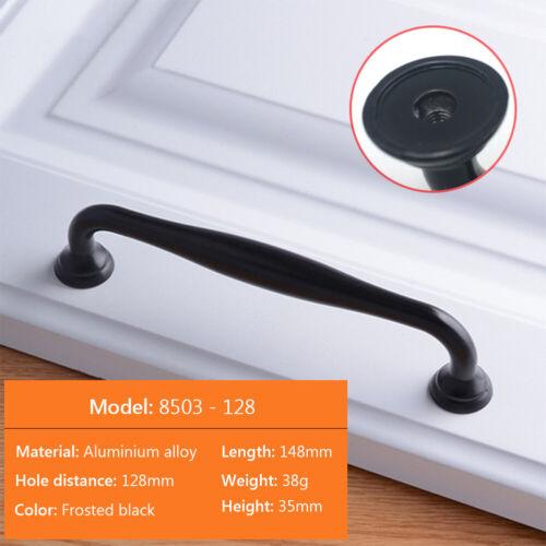 12X Black Kitchen Cabinet Wardrobe Handles Drawer Cupboard Pulls Handle Knobs A