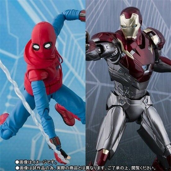Marvel Universe Heroes Homecoming Spider-man Ironman Mk47 SHF Movable Figure
