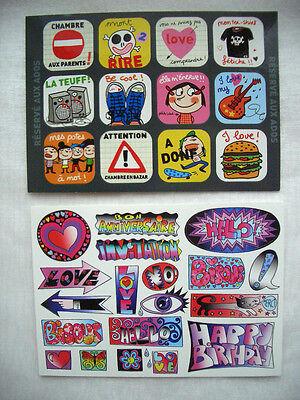 *Coole*Sticker&Postkarte* Lustige Zeichen& Funny Slogans*10 x15cm