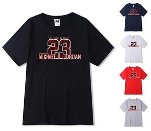 Nouveau-T-Shirt-Homme-Michael-air-legend-23-JORDAN-Hommes-Shirt-Top-Fashion-Sport-Top