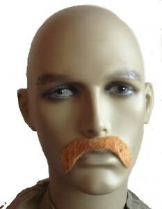 Brown Thick Large Droop Style Fancy Dress Moustache