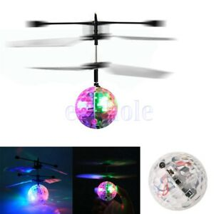 Flash vuelo Bola Infrared Induction LED Disco RC Helicóptero Niños Juguete  BC