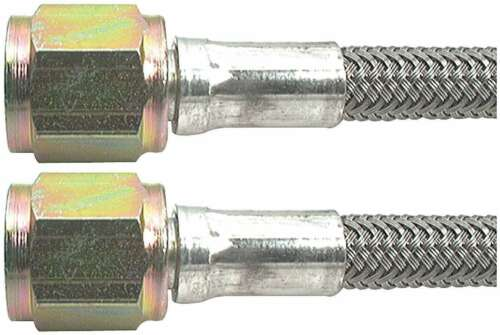 """Brake Hose 36/"""" 4 AN Hose 4 AN Straight Female Ends Braided Stainless PTFE Lined"""