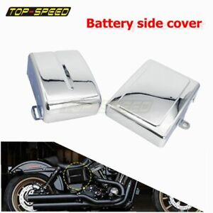 L R Battery Side Cover For Harley Dyna Fat Street Bob Low Rider Super Wide Glide